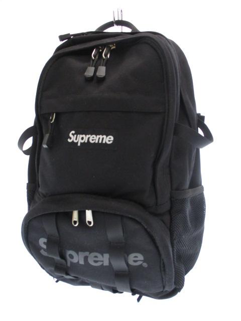 シュプリーム SUPREME 15SS Backpack バックパック リュック BOX LOGO ボックス ロゴ 黒ブラック ブランド古着ベクトル 中古☆AA★190314 0150 メンズ