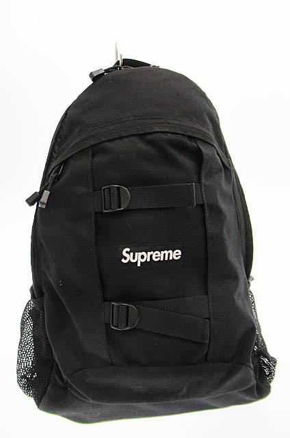 【中古】シュプリーム SUPREME 14SS Backpack バックパック リュック 黒ブラック ブランド古着ベクトル 中古☆AA★190318 0180 メンズ 【ベクトル 古着】 190318 プリマベーラ