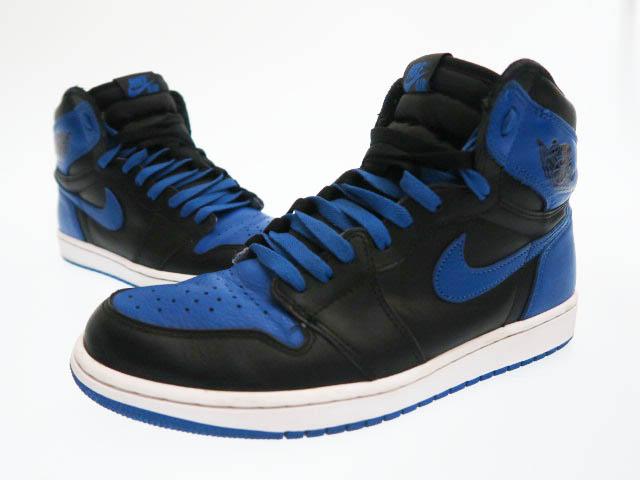 outlet boutique pretty cool united kingdom Nike NIKE AIR JORDAN 1 RETRO HIGH OG ROYAL 555,088-007 Air Jordan 1  nostalgic high OG royal 27.5 blue X black brand old clothes vector used ▲■  190416 ...