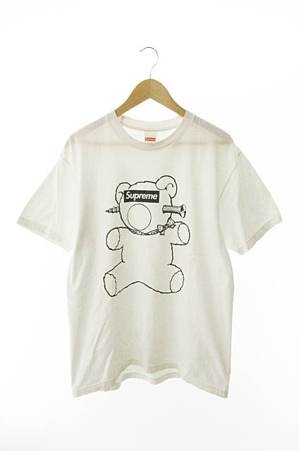 【中古】 シュプリーム SUPREME × アンダーカバー UNDERCOVER 15SS BEAR TEE ベアー半袖Tシャツ L白ホワイト ブランド古着ベクトル 中古☆AA★190510 0120 メンズ