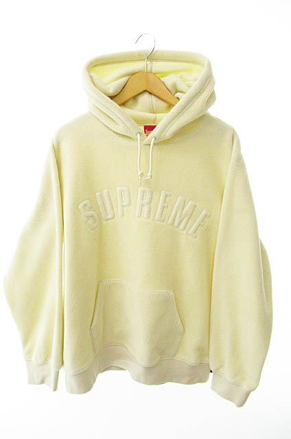 【中古】シュプリーム SUPREME 18AW Polartec Hooded Sweatshirt ポーラテック フーディー プルオーバー パーカー L アイボリー ブランド古着ベクトル 中古☆AA★190503 0140 メンズ