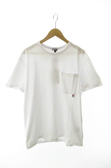 【中古】 モンクレール MONCLER 19SS MAGLIA T-SHIRT S/S Tee胸ポケット半袖Tシャツ XL白ホワイト ブランド古着ベクトル 中古☆AA★190518 0100 メンズ
