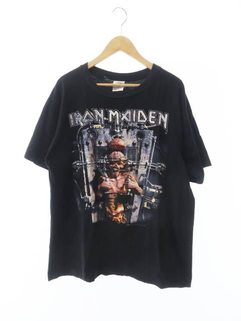【中古】 ヴィンテージ VINTAGE IRON MAIDEN アイアンメイデン THE X FACTOR 90s 1995年製 バンド 半袖 Tシャツ L ホワイト 白 ブランド古着ベクトル 中古 190520 0045 メンズ