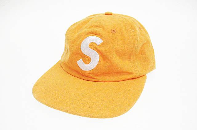 【中古】 シュプリーム SUPREME 18SS Washed Chambray S Logo 6Panel ウォッシュド シャンブレー Sロゴ キャップ オレンジ ブランド古着ベクトル 中古▲☆AA★190606 0045 メンズ
