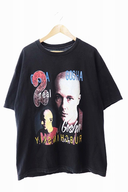 【中古】 MODERN MAN モダン マン GOSHA RUBCHINSKIY ゴーシャ ラブチンスキー CHEMISE DE VISITE 半袖Tシャツ XL 黒ブラック ブランド古着ベクトル 中古190603 0075 メンズ