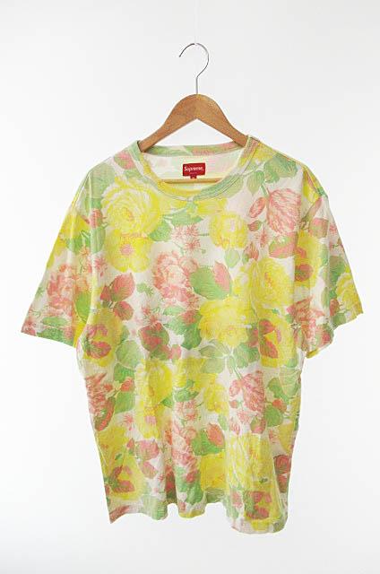 【中古】 シュプリーム SUPREME 18SS Flowers Tee フラワー ロゴ半袖Tシャツ XL マルチカラー ブランド古着ベクトル 中古☆AA★190627 0050 メンズ