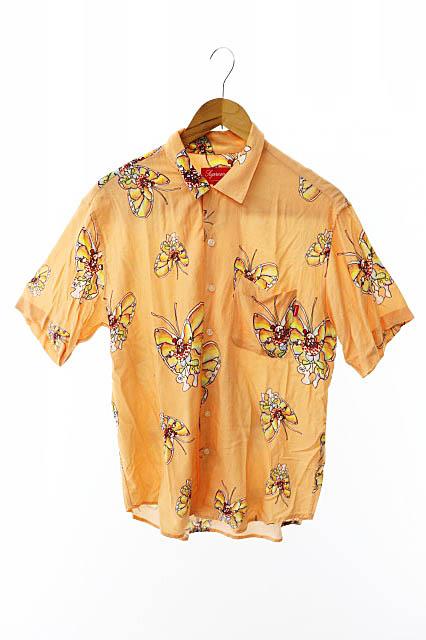 【中古】シュプリーム SUPREME 16SS Gonz Butterfly Shirt ゴンズ バタフライ半袖シャツ S オレンジ ブランド古着ベクトル 中古☆AA★190726 0060 メンズ