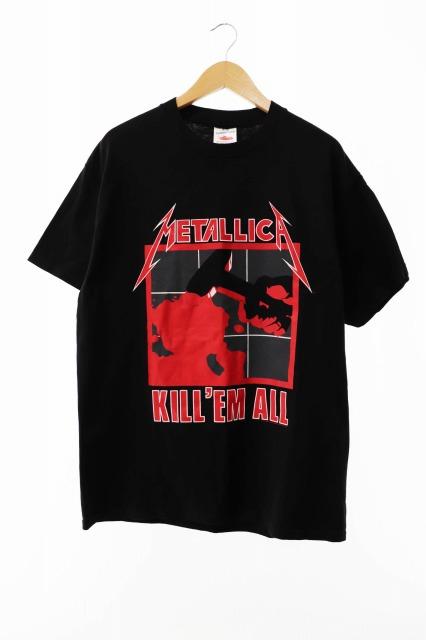 【中古】ヴィンテージ VINTAGE METALLICA KILL'EM ALL 1994年 USA製 TENNESSEE RIVER レプリカ バンド Tシャツ L ブラック ブランド古着ベクトル 中古 190802 0048 メンズ プリマベーラ