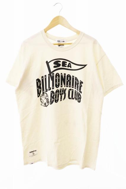 【中古】WIND AND SEA ウィンダンシー ×BILLIONAIRE BOYS CLUB ビリオネア ボーイズ クラブ BBC ロゴ プリント 半袖Tシャツ L アイボリー ブランド古着ベクトル 中古190820 0045 メンズ