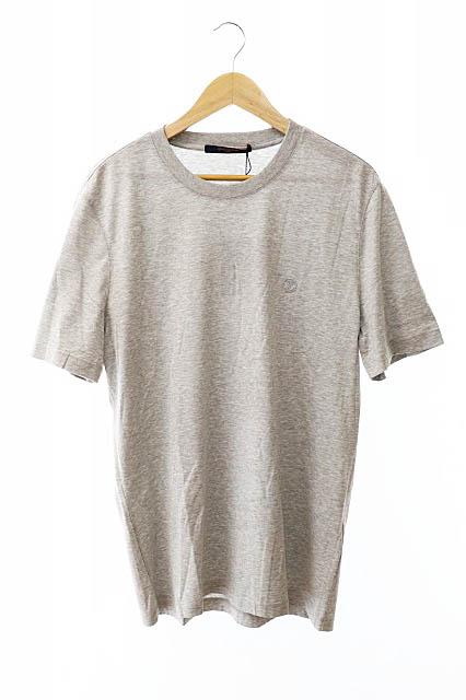 【中古】ルイヴィトン LOUIS VUITTON 未使用品 LV刺繍ロゴ クルーネック半袖Tシャツ VCCM09 RM192Q JC8 HAY50W Lグレー ブランド古着ベクトル 中古190828 0200 メンズ