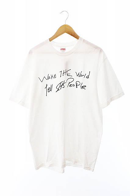 【中古】シュプリーム SUPREME 19SS Buju Banton Wake The World Tee ブジュ バントン ウェイク ザ ワールド半袖Tシャツ M白ホワイト ブランド古着ベクトル 中古☆AA★190926 0075 メンズ