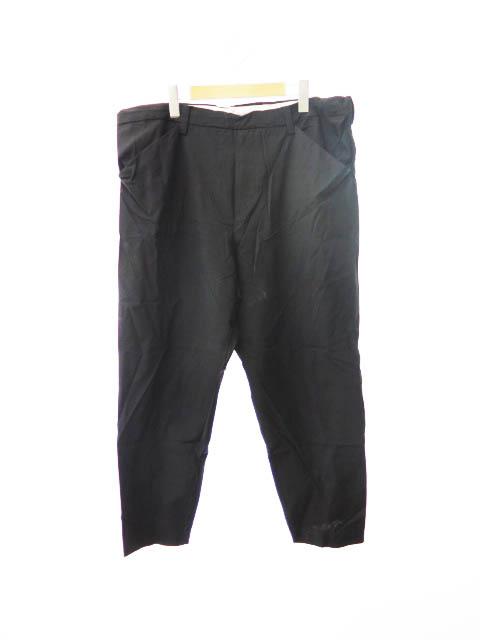 【中古】サンシー SUNSEA 16SS ナイスマテリアル ウール パンツ 16S40 3 黒 ブラック ブランド古着ベクトル 中古 ●190926 0030 メンズ