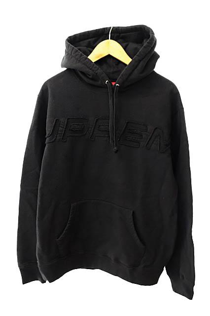 【中古】シュプリーム SUPREME 19SS Set In Logo Hooded sweat shirt セットイン ロゴ フーデッド スウェット シャツ プルオーバー パーカー L黒ブラック ブランド古着ベクトル 中古☆AA★191026 0125 メンズ