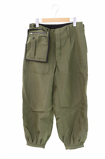 【中古】アマチ amachi. Detachable Pocket Work Pants デタッチャブル ポケット ワーク パンツ 005G 5 緑グリーン ブランド古着ベクトル 中古191113 0070 メンズ