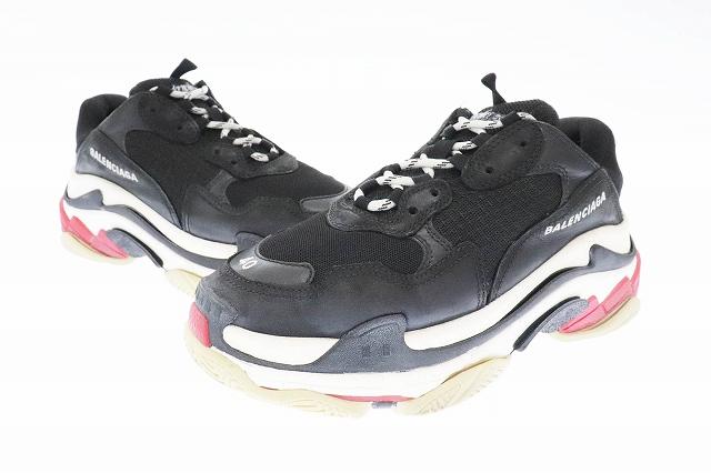 【中古】バレンシアガ BALENCIAGA Triple S Sneaker トリプル トレーナー スニーカー 524037 40 ブラック ホワイト レッド ブランド古着ベクトル 中古▲■☆AA★ 200428 0250