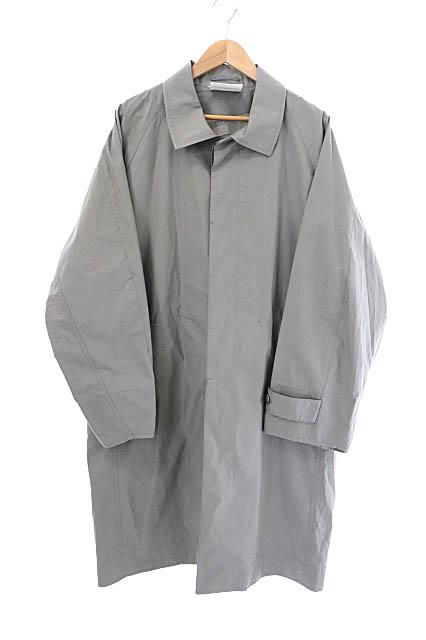 【中古】ディガウェル DIGAWEL 19AW RAGLAN SLEEVES COAT ラグラン スリーブ ステンカラー コート DWSOB010 1 グレー ブランド古着ベクトル 中古200315 0090 メンズ