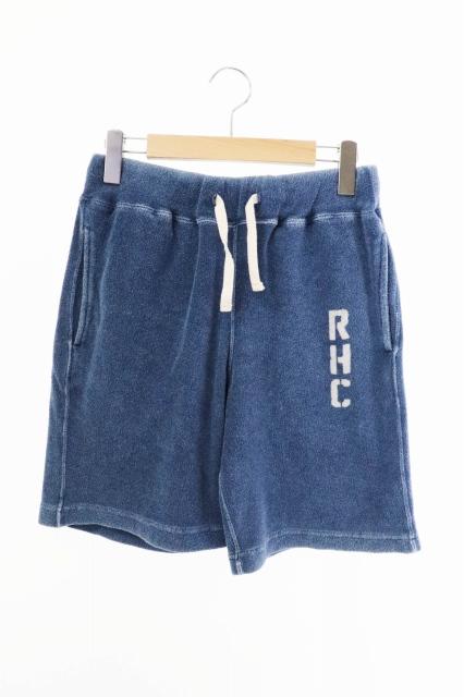 【中古】ロンハーマン Ron Herman RHC インディゴ パイル ショート パンツ ショーツ 622060010-1322 S 青 ブルー ブランド古着ベクトル 中古 200413 0030