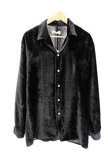 【中古】ベッドフォード BED J.W. FORD 未使用品 20SS Velvet Basic shirts ベルベット ベーシック ベロア 長袖 シャツ 20SS-B-BL06-1 1 黒 ブラック ブランド古着ベクトル 中古 200416 0100 メンズ