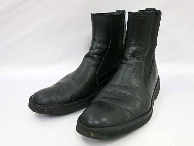 ディオール Dior イタリア製 レザー サイドゴア ブーツ サイズ43 1/2 ブラック【ブランド古着ベクトル】【中古】171024 メンズ 【中古】【ベクトル 古着】 171024 プリマベーラ