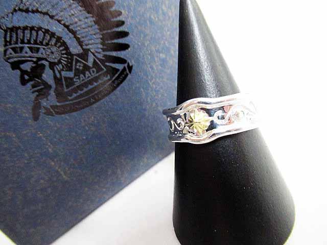 サード SAAD SVシルバー k18太陽神リング指輪17号【ブランド古着ベクトル】【中古】171227 メンズ