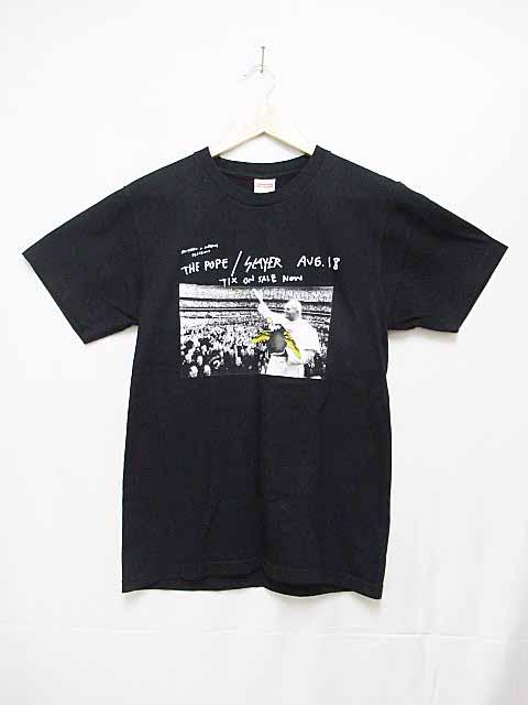 シュプリーム SUPREME 16SS ANTIHEROアンタイヒーローpope Tシャツ半袖S黒【ブランド古着ベクトル】【中古】180610☆AA★ メンズ