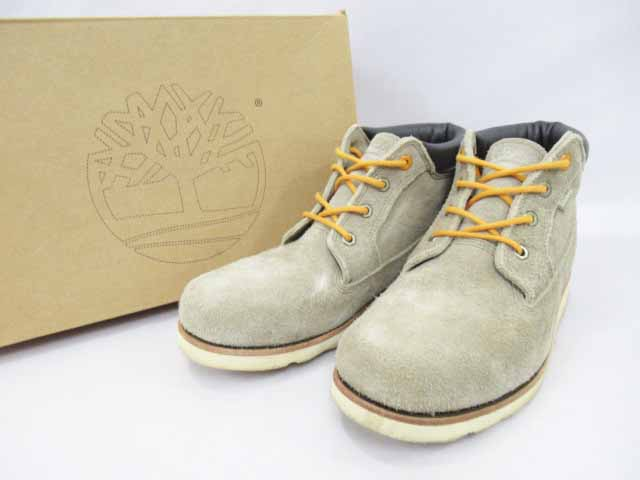 ティンバーランド Timberland 2010 Stussy コラボ XXX 4-Eye Boots スエード クラシック ブーツ カーキ 28cm【ブランド古着ベクトル】【中古】181025 メンズ