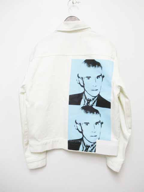 【中古】 カルバンクラインジーンズ Calvin Klein Jeans ANDY WARHOL アンディ ウォーホール プリント ホワイト デニムジャケット S【ブランド古着ベクトル】190524 メンズ 【ベクトル 古着】 190524