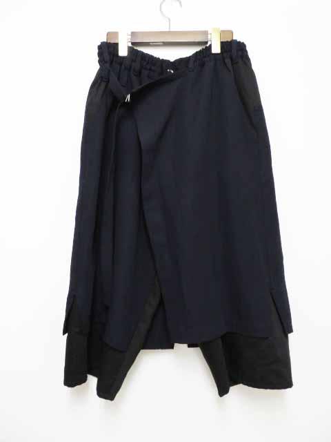 【中古】グラウンドワイ ヨウジヤマモト GroundY ラップスカートパンツ コンビ GD-P01-810 【ブランド古着ベクトル】200501 104 メンズ レディース 【ベクトル 古着】 200501 プリマベーラ