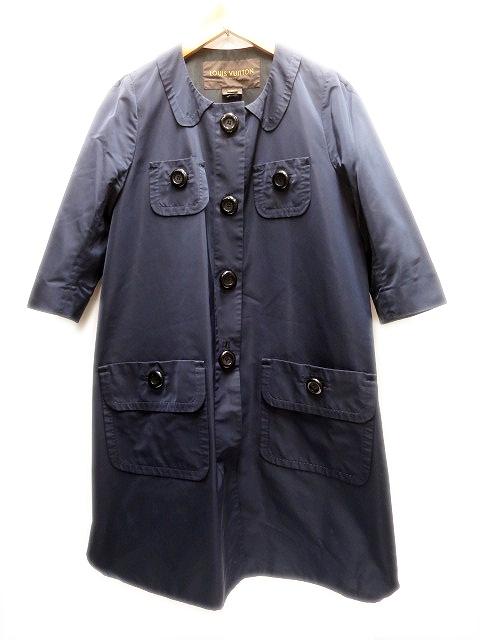 【中古】ルイヴィトン LOUIS VUITTON 七分袖 丸襟ナイロン コート42 レディース 【ベクトル 古着】 160409