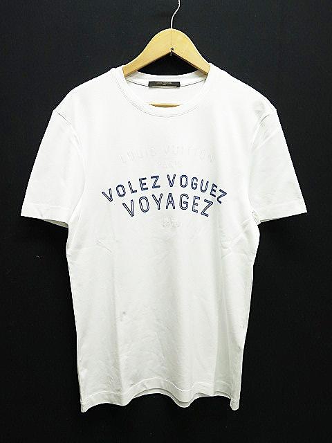 ルイヴィトン LOUIS VUITTON volez voguez voyagez Tシャツ 半袖 カットソーS白ホワイト メンズ 【中古】【ベクトル 古着】 170622 プリマベーラ
