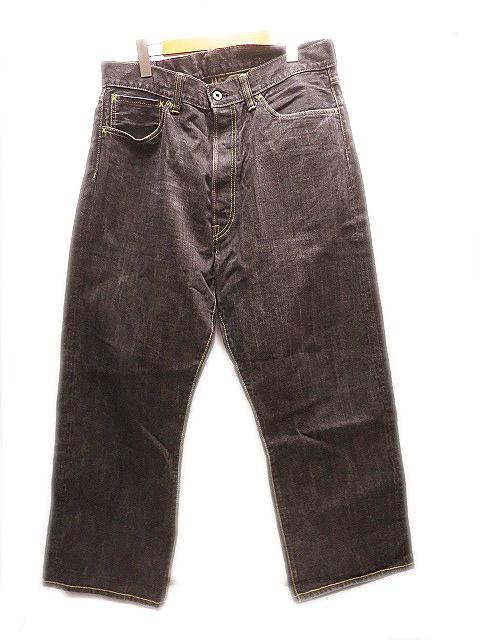 テンダーロイン TENDERLOIN K7 DENIM PANTS 針シンチバック デニム パンツ ジーンズ36 黒ブラック メンズ 【中古】【ベクトル 古着】 181031 プリマベーラ