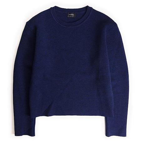 ジルサンダー JIL SANDER 14AW SWEATER Crew neck sweater in wool ニット セーター クルーネック プルオーバー ウール 長袖 44 ネイビー 秋冬 メンズ 【中古】【ベクトル 古着】 181006 ブランド古着ベクトルプレミアム店
