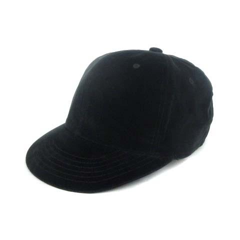 キジマタカユキ KIJIMATAKAYUKI ベースボールキャップ 野球帽 ベロア 黒 ブラック 2 帽子 ※ メンズ 【中古】【ベクトル 古着】 180713 ブランド古着ベクトルプレミアム店