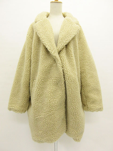 great variety styles 2019 factory price on feet shots of H & M H&M coat jacket boa teddy bear fake fur beige L Lady's 190128 brand  old clothes vector premium shop
