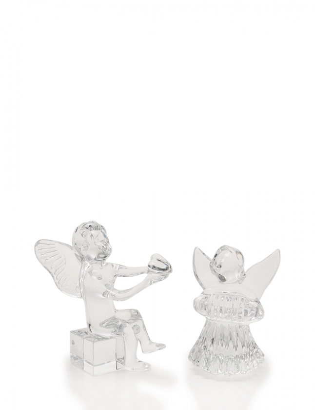 バカラ Baccarat オーナメント 置物 アンジェロ ハート リラを弾く天使 クリア 小物 クリスタルガラス 天使 2体セット レディース 【中古】【ベクトル 古着】 ブランド古着ベクトルプレミアム店
