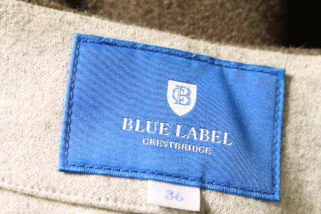 ブルーレーベルクレストブリッジ BLUE LABEL CRESTBRIDGE コート ノーカラー ダブルフェイス ウール混 36 茶 ブラウン ako0422 レディースベクトル 古着1905010nw8mN