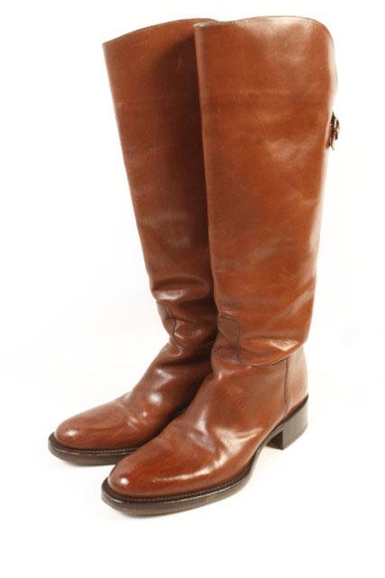 【中古】 サルトル SARTORE ブーツ ロング ジョッキー レザー 35 茶 ブラウン /mm0521 レディース 【ベクトル 古着】 190524