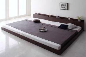 連結ベッド 公式通販 ファミリー ベッド ファミリーベッド 大型ベッド ローベッド フロアベッド 家族ベッド クイーン 北欧 人気急上昇 マットレス付き SS×2 家族 親子ベッド プレミアムボンネルコイル おしゃれ