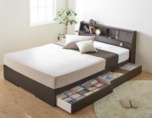 フラップ棚 照明 新品 直営店 コンセントつき多機能ベッド シングル 国産ポケットコイルマットレス付き