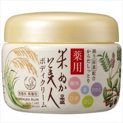 今だけスーパーセール限定 全品送料無料 日本盛 米ぬか美人 140g 薬用ボディクリーム