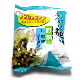 無添加 どんぶり麺 ノンカップメン 塩ラーメン 1食分 ×24袋 国産小麦粉使用