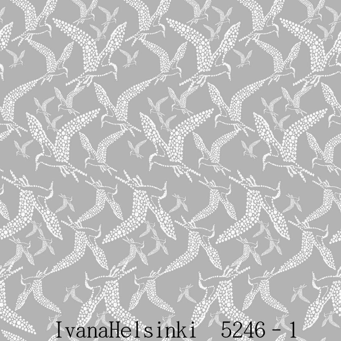 IvanaHelsinki イヴァナヘルシンキフィンランド製 壁紙5246-1【 53cm幅×10m巻 】裏面:フリース素材鳥 北欧 自然 グレー輸入壁紙IvanaHelsinki Wallpaper★P10倍★