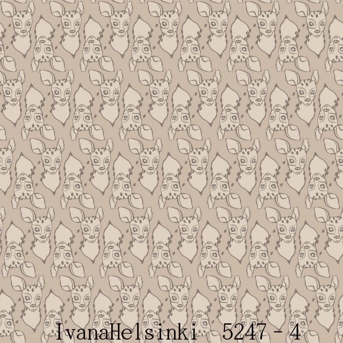 IvanaHelsinki イヴァナヘルシンキフィンランド製 壁紙5247-4【 53cm幅×10m巻 】裏面:フリース素材鹿 小鹿 バンビ アニマル 北欧 自然 ベージュ輸入壁紙IvanaHelsinki Wallpaper★P10倍★