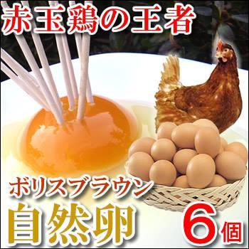 安心 安全こだわりの卵 綺麗なレモン色の黄身の自然卵は放し飼いです 3980円以上でも送料別商品になります 一部予約 祝開店大放出セール開催中 6個入 赤玉の王様自然卵 ボリスブラウン自然卵
