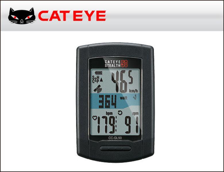 (送料無料)(CATEYE)キャットアイ サイクルコンピュータ CC-GL50 ステルス 50(4990173024704)