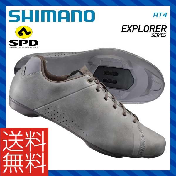 (送料無料)(SHIMANO)シマノ ROAD ロードツーリング SPD SHOES シューズ RT4 グレー