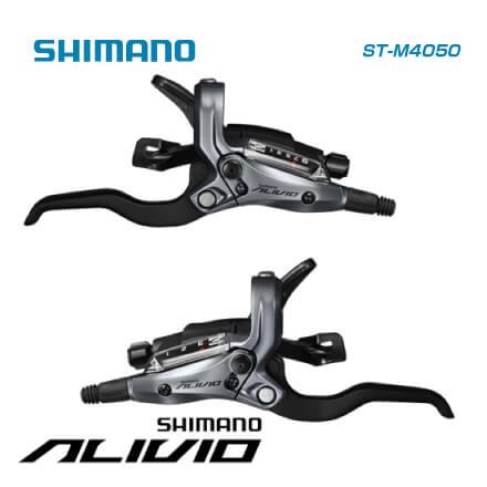(送料無料)SHIMANO シマノ MTB用 ALIVIO M4000 Shift Brake Lever 3x9 ST-M050 左右セット(シフトケーブル・ホース・オイル付属)(ESTM4050PA)(4524667610267)