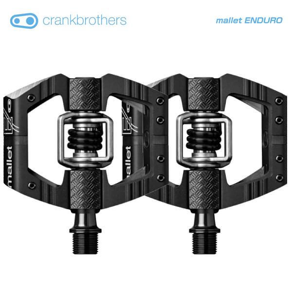 (送料無料)(crankbrothers)クランクブラザーズ PEDAL ペダル mallet ENDURO マレットエンデューロ ブラック(左右ペア)