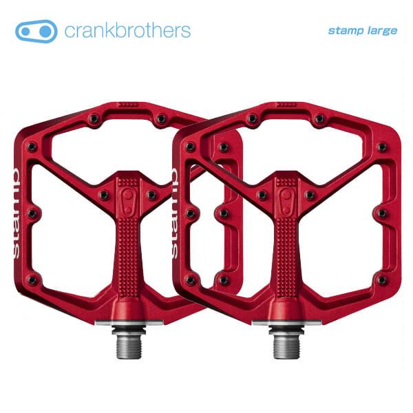 (送料無料)(crankbrothers)クランクブラザーズ PEDAL ペダル stamp large スタンプラージ レッド(左右ペア)