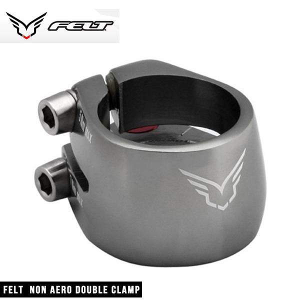 (FELT)フェルト オリジナルパーツ NON AERO DOUBLE CLAMP SILVER 30.6mm ノンエアロダブルクランプ(シルバー)30.6mm 653359